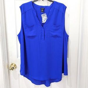 Torrid Cobalt Georgette Pullover Sleeveless Blouse